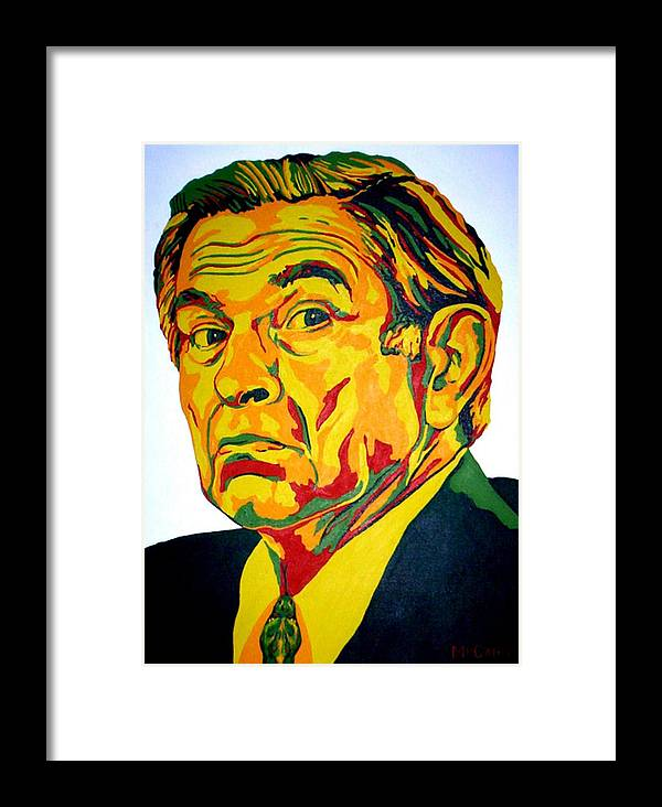 Politics Framed Print featuring the painting Wolfowitz by Dennis McCann