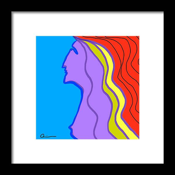 Nude Framed Print featuring the digital art Woman 6 by Jeff Quiros