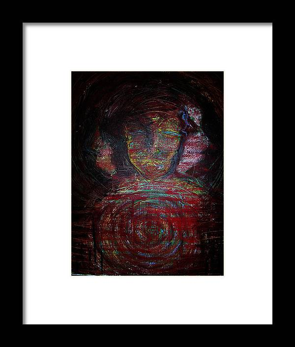 Symbolism Framed Print featuring the painting Woman by Erika Brown