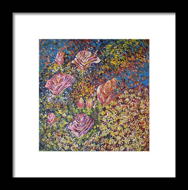 Flower Framed Print featuring the painting Woman Flower by Wendy Chua