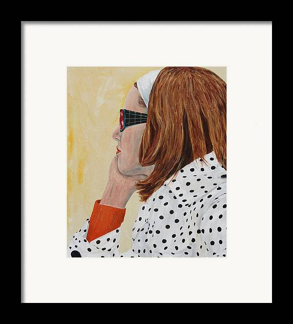 Kevin Callahan Framed Print featuring the painting Woman On The Boat by Kevin Callahan
