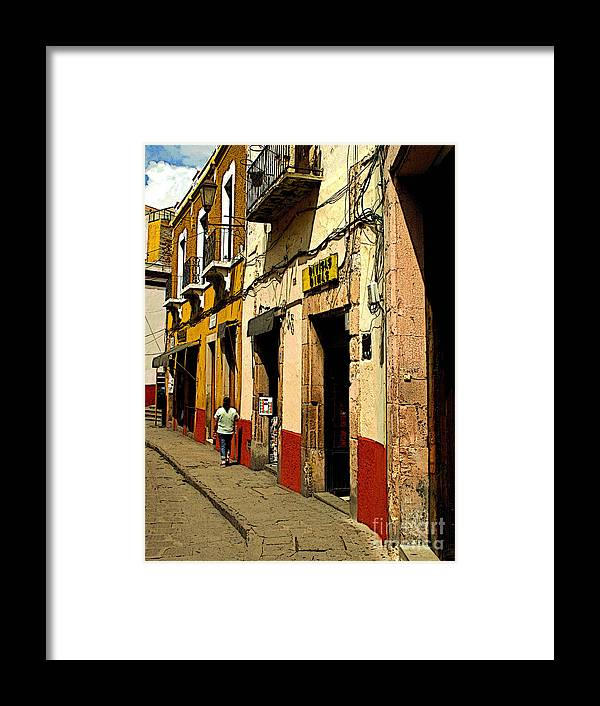 Darian Day Framed Print featuring the photograph Woman On The Street by Mexicolors Art Photography