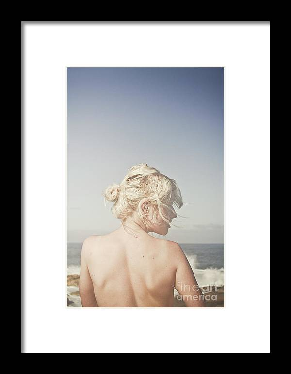 Woman Relaxing On The Beach Framed Print by Jorgo Photography - Wall ...