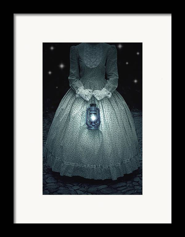 Female Framed Print featuring the photograph Woman With Lantern by Joana Kruse