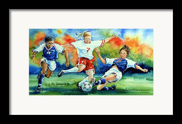 Sports Art Framed Print featuring the painting Women by Hanne Lore Koehler