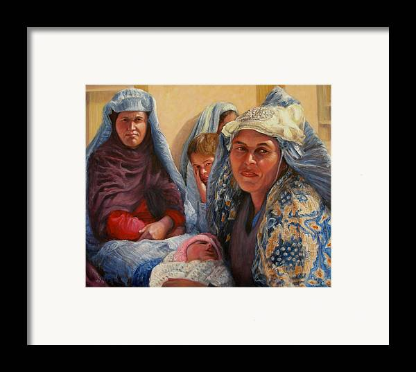 Realism Framed Print featuring the painting Women Of War by Donelli DiMaria