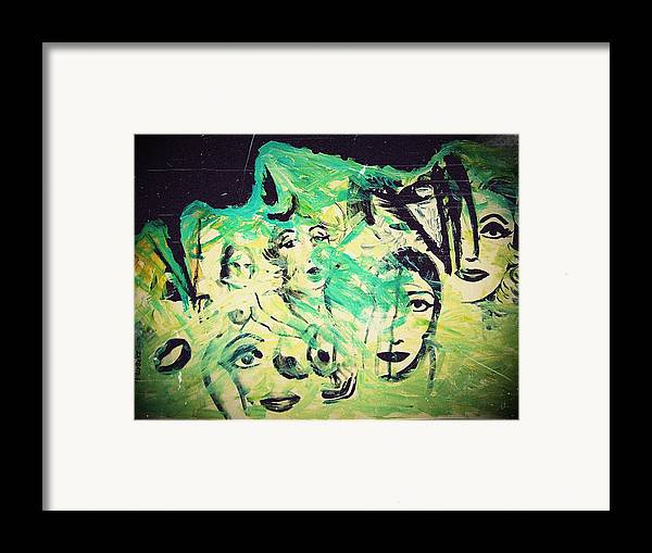 Women Framed Print featuring the mixed media Women by Paulo Zerbato