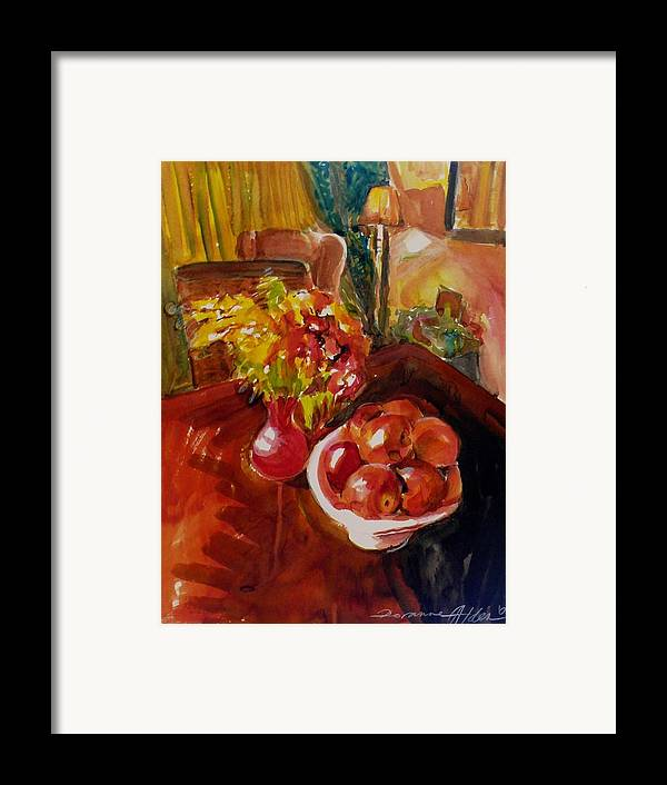 Interior Framed Print featuring the painting Women's Day Bouquet by Doranne Alden
