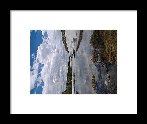 Snow'y Range Wyoming Framed Print featuring the photograph Woming Snow'y Rangr by Alice Eckmann