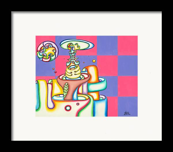 Space Framed Print featuring the painting Wonder Bred by      Gillustrator