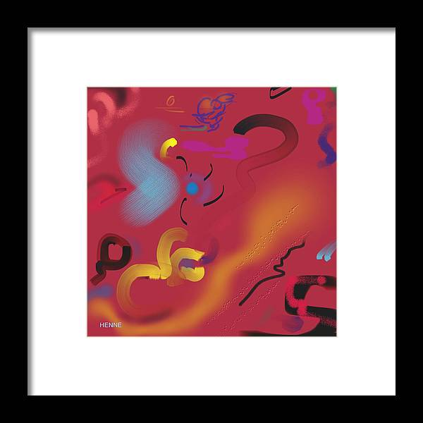 Digital Framed Print featuring the painting Wonder by Robert Henne