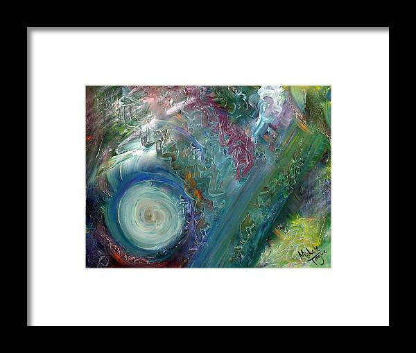 Oil Framed Print featuring the painting Wondering Green Revisited by Michelle Teague