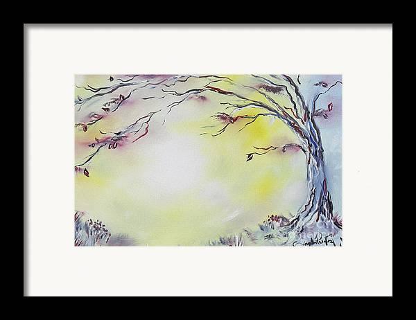 Tree Art Framed Print featuring the painting Wonderland Bliss by Joseph Palotas