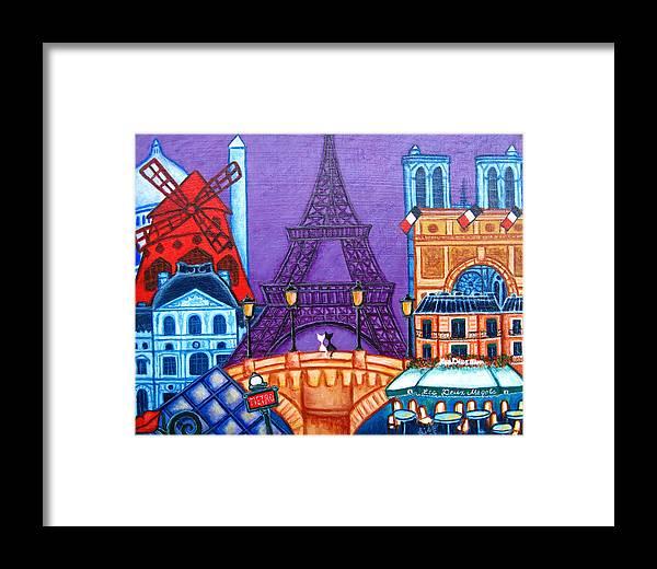 Paris Framed Print featuring the painting Wonders Of Paris by Lisa Lorenz