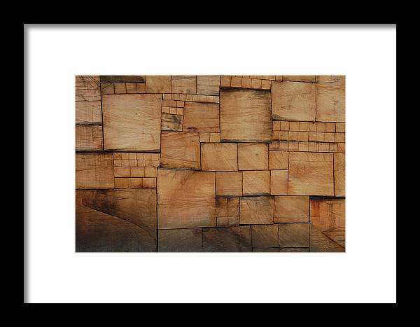 Wood Framed Print featuring the photograph Woodblocks by Marcus L Wise