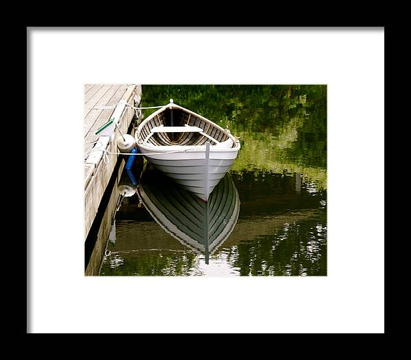 Wooden Boat Framed Print featuring the photograph Wooden Boat by Sonja Anderson