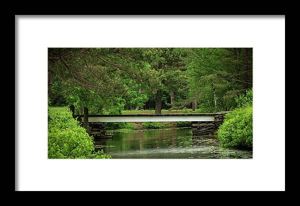 Nature Framed Print featuring the photograph Wooden Bridge by Jason Fink