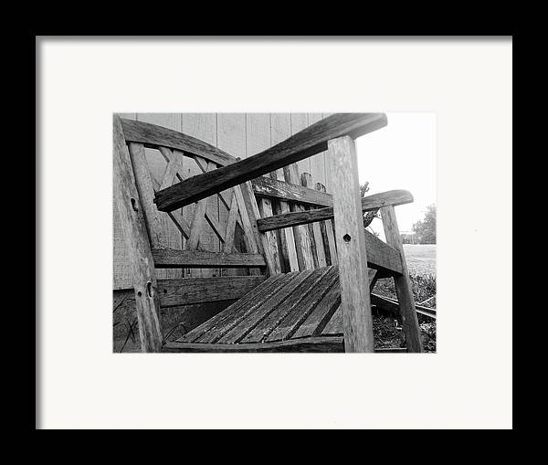 Chair Framed Print featuring the photograph Wooden Chair by Ali Dover