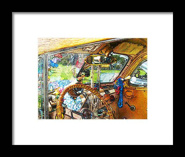 Woodie Wagon Framed Print featuring the photograph Woodie World by Deborah Hildinger