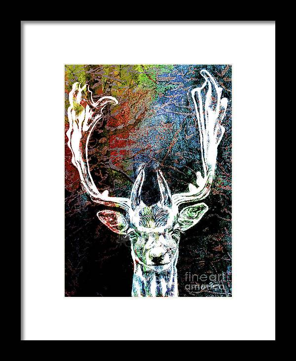 Deer Art Framed Print featuring the mixed media Woodland Prince In Colour by Callan Art