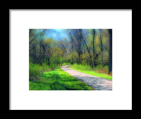 Cedric Hampton Framed Print featuring the photograph Woodland Trail by Cedric Hampton
