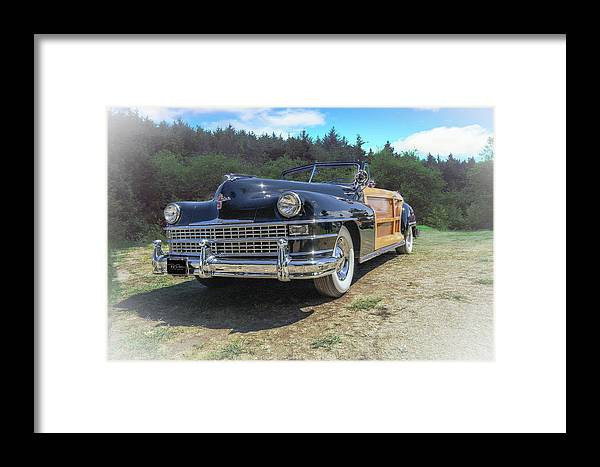 Automotive Framed Print featuring the photograph Woody Chrysler by Bill Posner