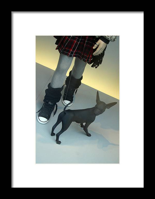 Jez C Self Framed Print featuring the photograph Woofette by Jez C Self