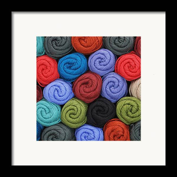 Yarn Framed Print featuring the photograph Wool Yarn Skeins by Jim Hughes