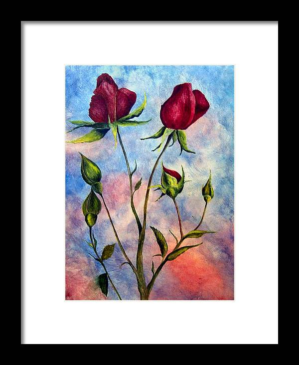 Rose Framed Print featuring the painting Woop Woop Rose by JoLyn Holladay
