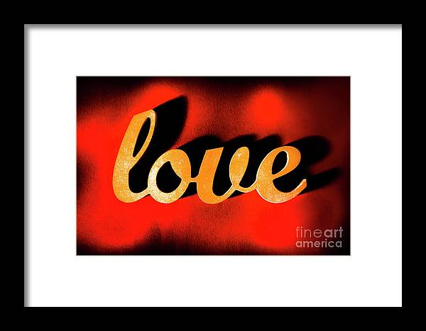 Retro Framed Print featuring the photograph Words Of Love And Retro Romance by Jorgo Photography - Wall Art Gallery
