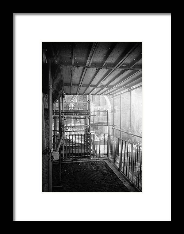Works Framed Print featuring the photograph Work In Progress Under The Ruins by Nacho Vega