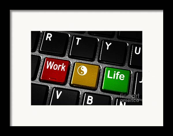Abstract Framed Print featuring the photograph Work Life Balance by Blink Images