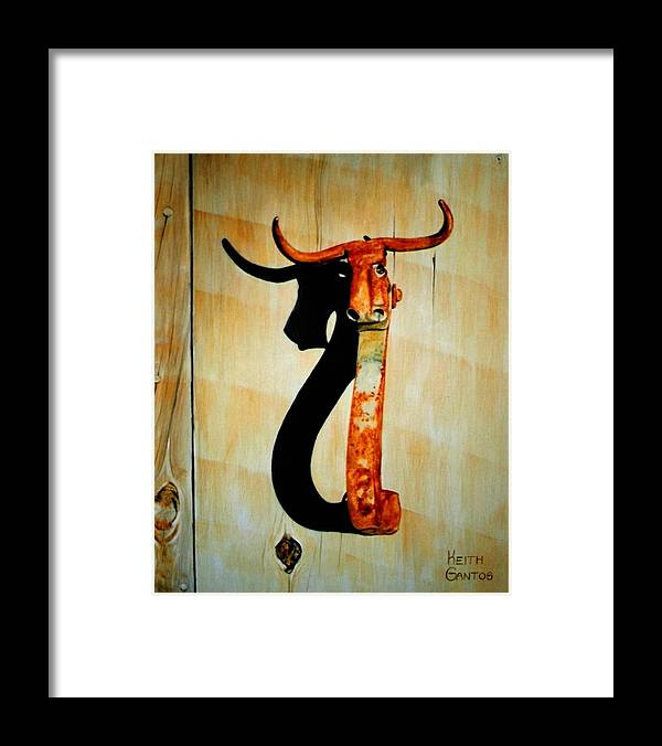 Door Knocker Framed Print featuring the painting Work of Farr by Keith Gantos