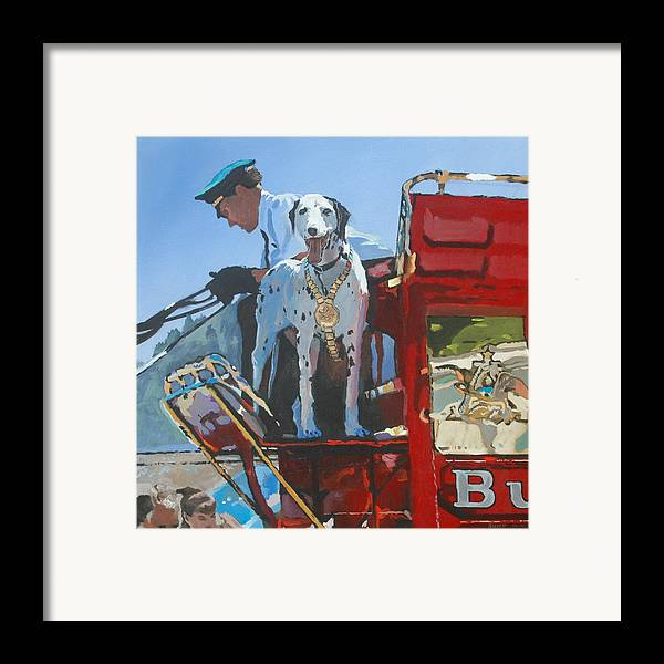 Dog Framed Print featuring the painting Working Dog by Robert Bissett