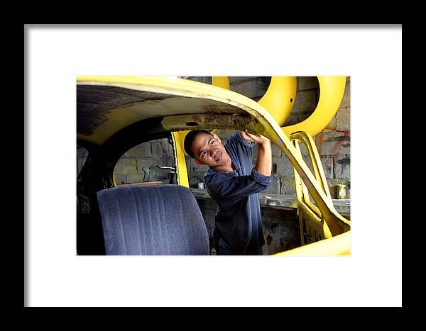 Jez C Self Framed Print featuring the photograph Working Like A Beetle by Jez C Self