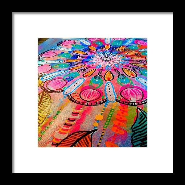 Shine Framed Print featuring the photograph Working On A New #mandala #wallhanging by Robin Mead