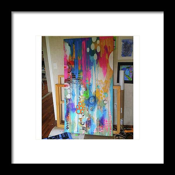 Framed Print featuring the photograph Working On A New Plywood..5 Ft X 3.5 Ft by Robin Mead