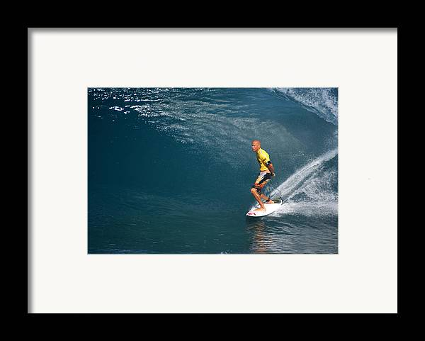 Kelly Slater Framed Print featuring the photograph World Champion X11 by Kevin Smith