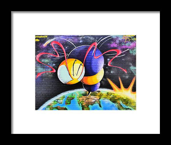 City Mural Framed Print featuring the photograph World Color Bee by Jack Riordan