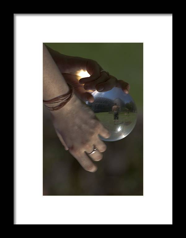 Acrilic Framed Print featuring the photograph World In Your Hands by Marta Grabska-Press