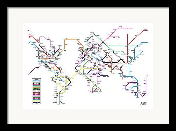 Subway map framed art prints fine art america gumiabroncs Choice Image
