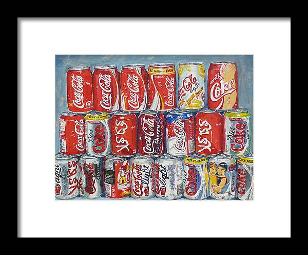 Coca Cola Framed Print featuring the painting World Of Coca Cola by Tomas OMaoldomhnaigh