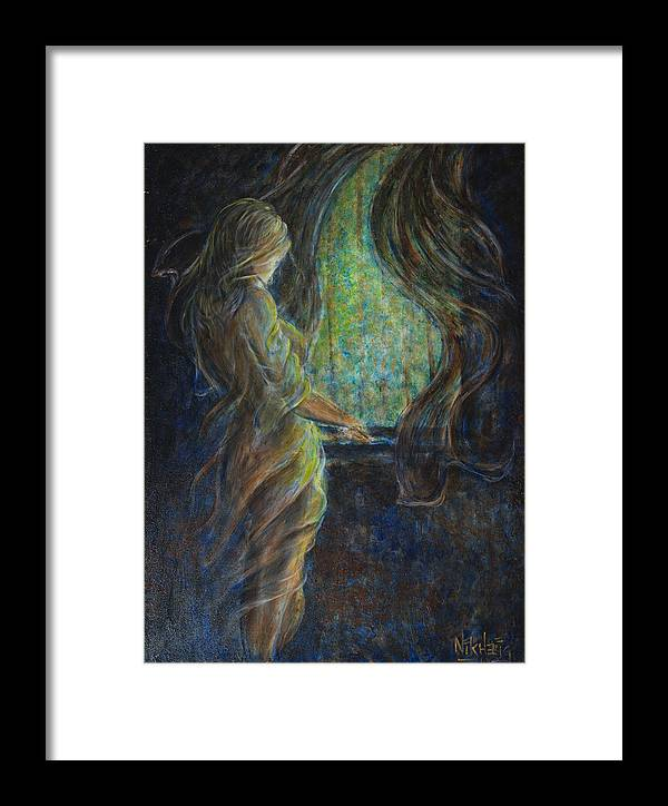 Mystic Framed Print featuring the painting World Outside My Window by Nik Helbig