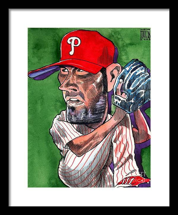 Phillies Framed Print featuring the painting World Series Mvp by Robert Myers