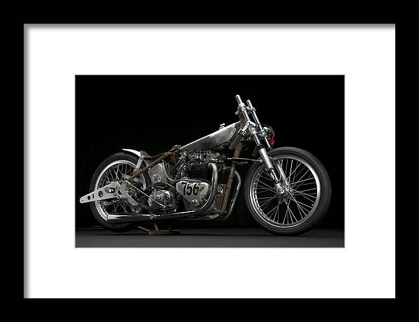 Triumph Framed Print featuring the photograph World's Fastest Vintage Triumph by Keith May