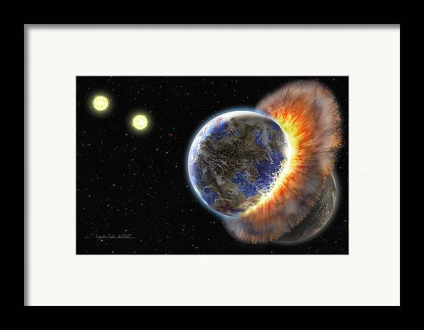 Lynette Cook Framed Print featuring the painting Worlds In Collision by Lynette Cook