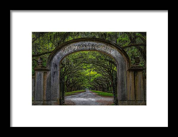 Landscape Framed Print featuring the photograph Wormsloe Plantation Entrance by Clicking With Nature