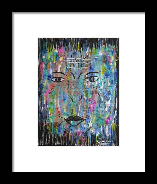 Abstract Framed Print featuring the painting Worries Of Life by Pooja Dipanker