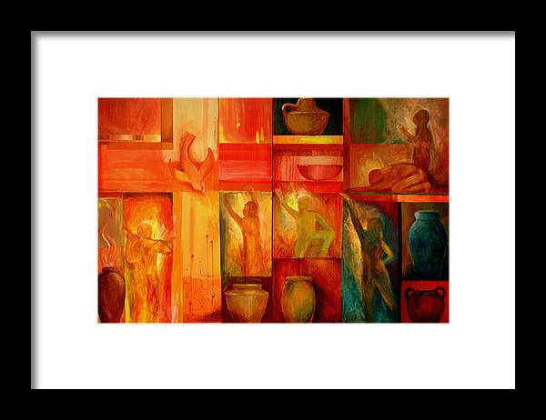 Worship Framed Print featuring the painting Worship by Jun Jamosmos