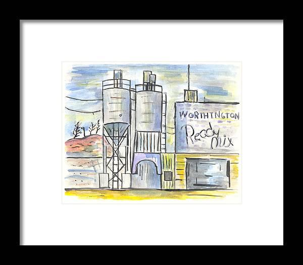 Minnesota Framed Print featuring the painting Worthington Ready Mix by Matt Gaudian